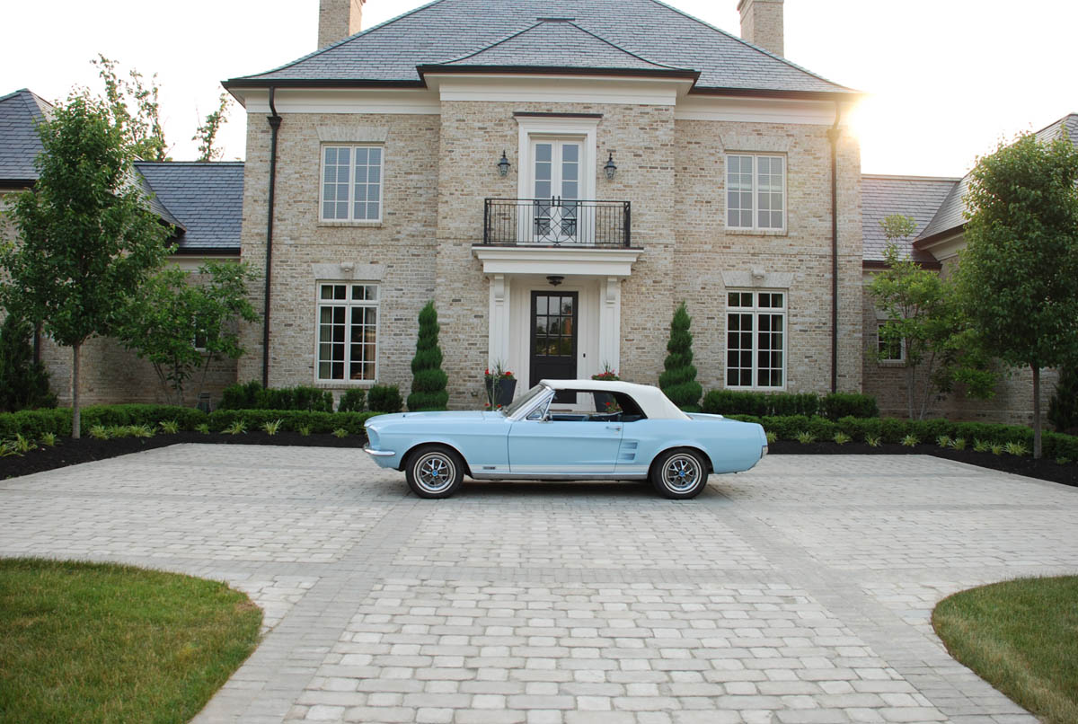 Exterior of home with car